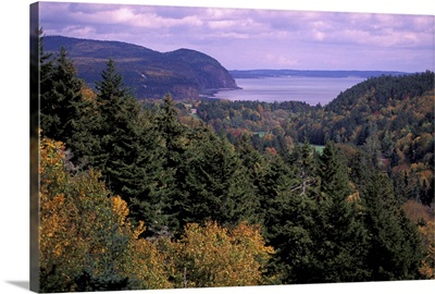 Canada, New Brunswick, View of Fundy National Park