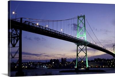 Canada, Nova Scotia, Halifax. MacDonald Bridge