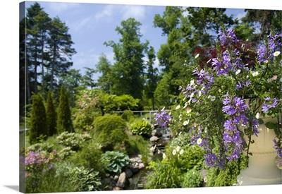 Canada, Nova Scotia, Halifax, Public Gardens, historic Victorian city garden
