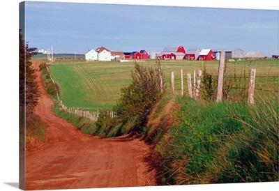 Canada, Prince Edward Island. A country farm near Cape Tryon