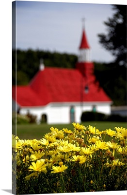 Canada, Quebec, Tadoussac. Petite Chapelle, oldest wooden church in Canada