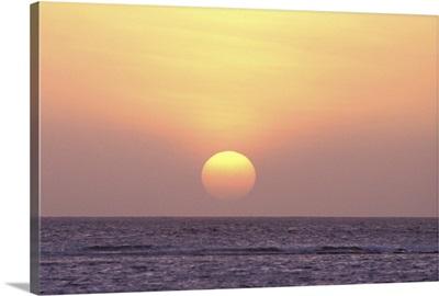 Caribbean, Aruba. Sunset
