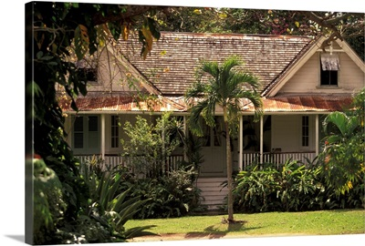 Caribbean, St. Lucia, Choiseul, Balembouche Estate, former sugar plantation