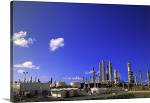 Caribbean Us Virgin Islands St Croix Oil Refinery Wall