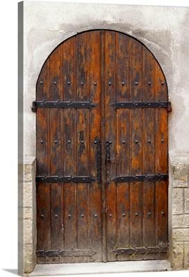 Chateau De Nouvelles, Fitou, Languedoc, A Door, France