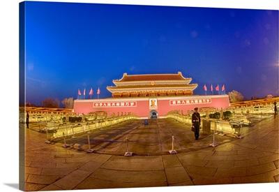 China, Beijing, Evening at The Forbidden City
