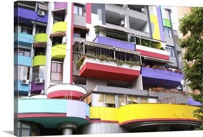 Colorful Building, Tirana capital, Albania, Balkan