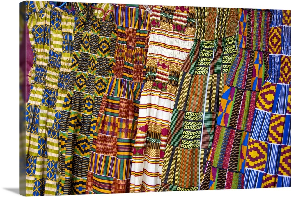 Colorful West African dresses, Accra Textile and Handicraft Market, Accra,  Ghana