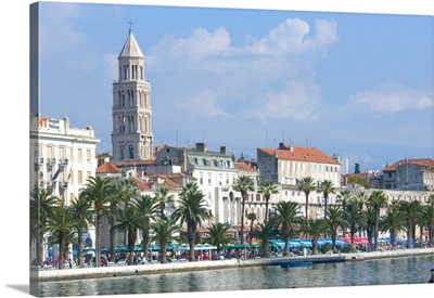 Croatia, Split, Coastal View Of Popular Embankment