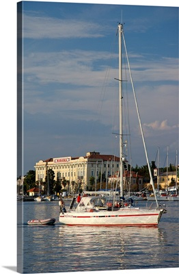 Croatia, Zadar, Sailboat On Zadar Strait