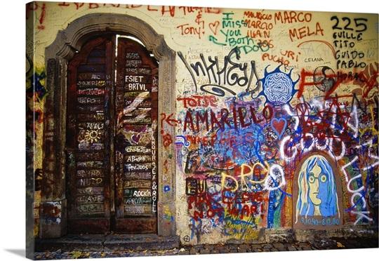Czech Republic, Prague, Lesser Town, the John Lennon Wall Wall Art ...