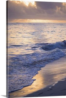 Dominican Republic, Punta Cana, Bavaro Beach, Atlantic Ocean at sunrise