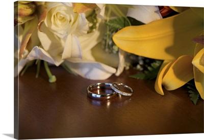 Dominican Republic, Punta Cana, Bavaro, wedding flowers and rings