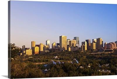 Edmonton, Canada, at sunrise