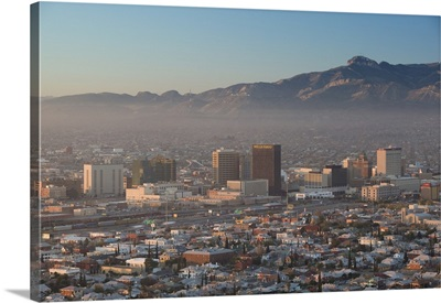 El Paso, Texas, Downtown View from Scenic Drive
