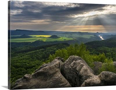 Elbe Sandstone Mountains. Germany, Saxony