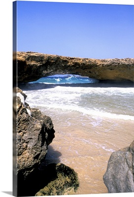 Famous Natural Bridge in Aruba