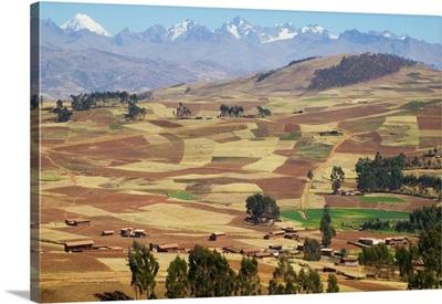 Farmland in the Sacred Valley, Cusco, Peru