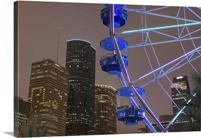 Ferris Wheel in Downtown Houston, Evening