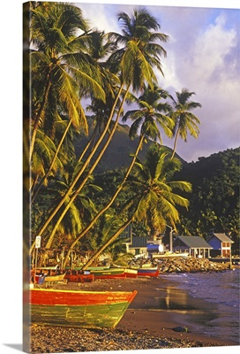 Fishing boats, Soufriere, St Lucia, Caribbean