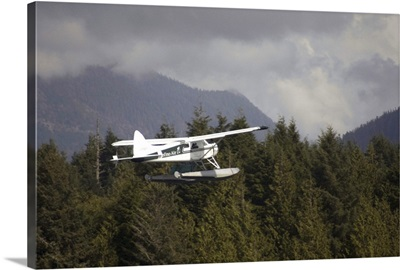 Float Plane Flying, Tofino, British Columbia, Canada