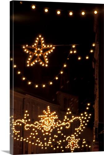 France, Alsace, Metz, Christmas Lights Wall Art, Canvas Prints ...