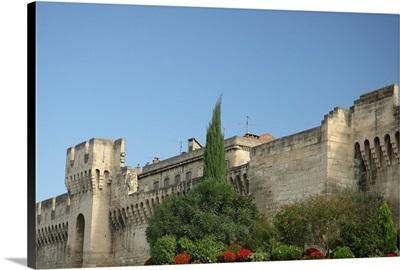 France, Avignon, Provence, ramparts surrounding city