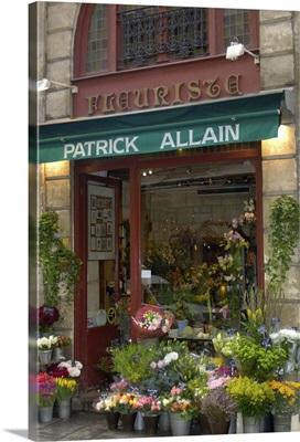 France, Paris, Patrick Allain florist in Ile St. Louis