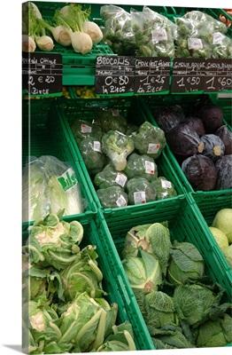 France, Paris, vegetables for sale