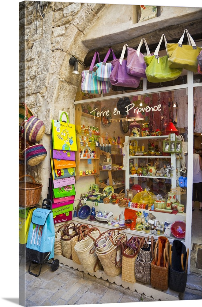 France, Provence, Vence, Outside Of Souvenir Shop. Canvas