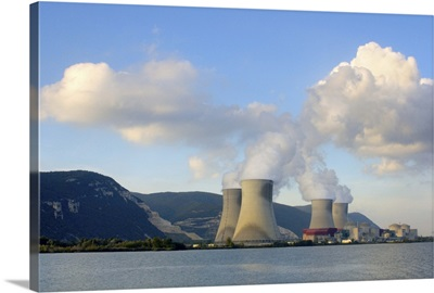 France, Rhone River, nuclear power plant