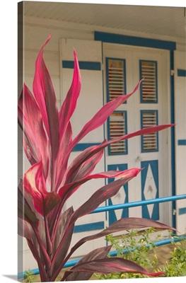 French West Indies, Guadaloupe, Terre de Haut, Bourg Des Saintes, Architectural Detail