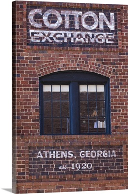 Georgia, Athens, sign for the Cotton Exchange, c. 1920