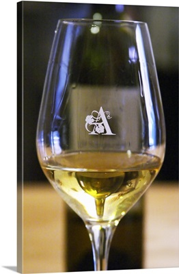 Glass Embossed With A, Domaine D'aupilhac, Montpeyroux, Languedoc, France
