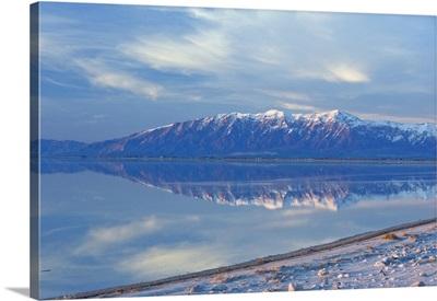 Great Salt Lake and Northern Wasatch Mountains, Salt Lake City, Utah