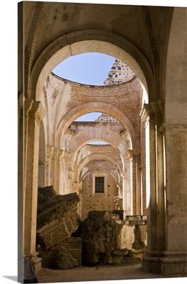 Guatemala, Antigua, The Ruins of the Cathedral de Antigua