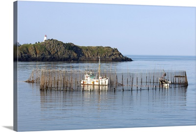 Herring Weir and Swallow Tail Lighthouse, Grand Manan Island, New Brunswick, Canada