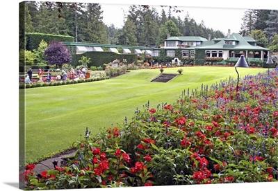 Italian garden lawn, Butchart Gardens, Victoria, British Columbia