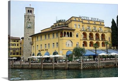 Italy, Riva del Garda, Lake Garda, town center