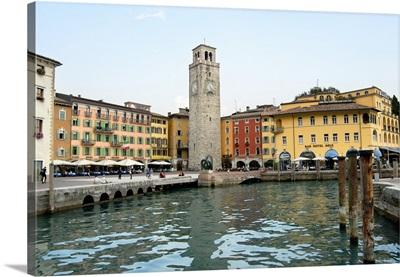 Italy, Riva del Garda town center, Lake Garda