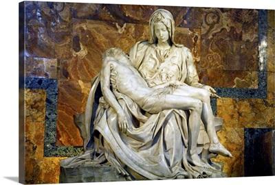 Italy, Vatican City, Michelangelo's masterpiece sculpture, Pieta, St. Peter's Basilica