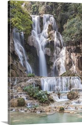 Laos, Luang Prabang, Tat Kuang Si Waterfall