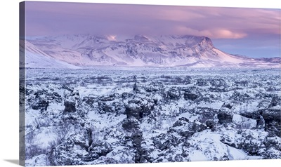 Lava field Dimmuborgir, near Lake Myvatn, Iceland