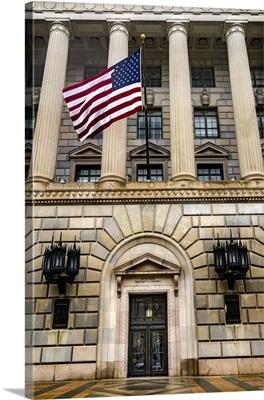 Main Entrance To Herbert Hoover Building, Commerce Department, Washington DC