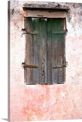 Martinique, French West Indies, Exterior of building in St. Pierre