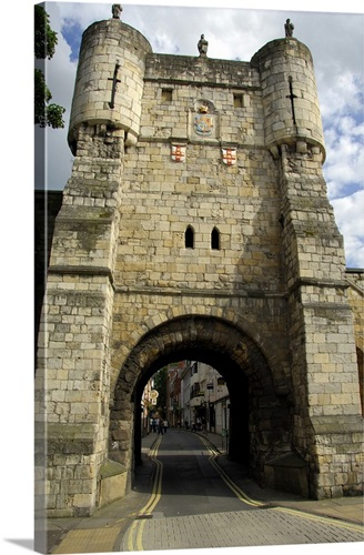 Medieval City Gate And Walls, York, Yorkshire Wall Art, Canvas ...