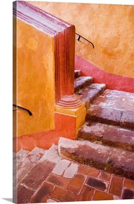 Mexico, San Miguel de Allende, staircase