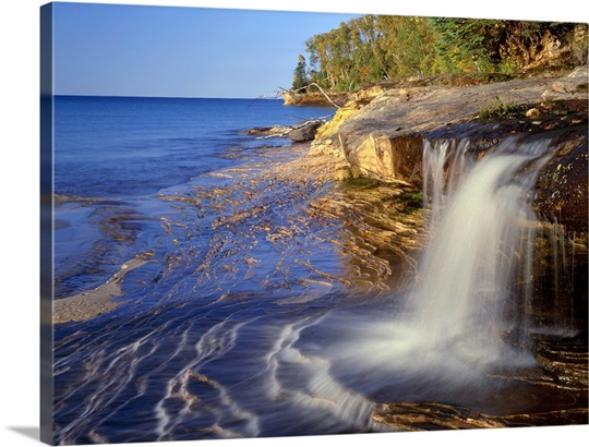Waterfall Wall Art michigan, pictured rocks national lakeshore. waterfall wall art