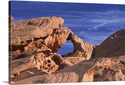 Nevada, Valley of Fire State Park. Arch Rock