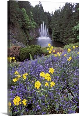 North America, Canada, British Columbia, Butchart Gardens. Ross fountain
